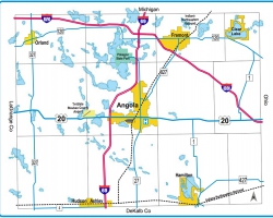 Steuben County Indiana Map.Maps Invest In Northern Indiana Lakes Country Steuben County
