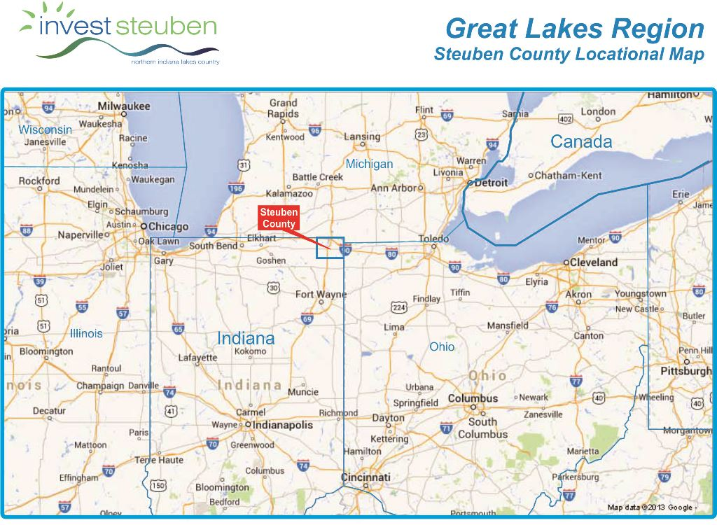 Great Lakes Region Location Map  Invest In Northern