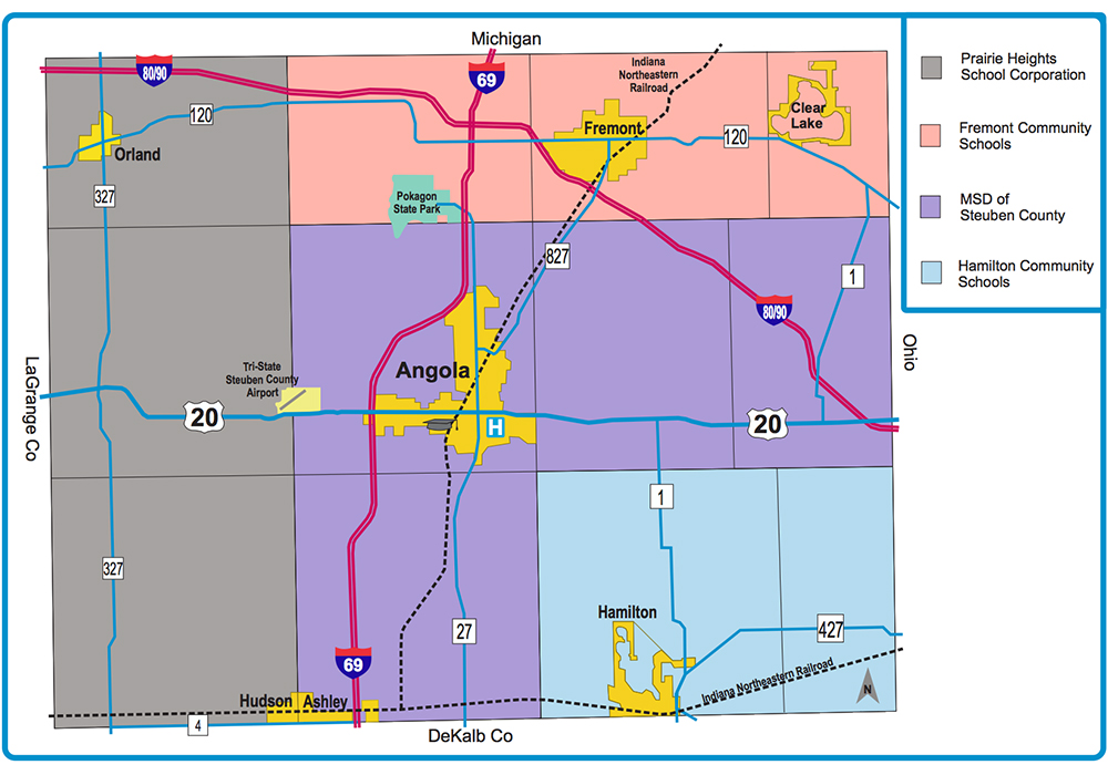 Maps Invest in Northern Indiana Lakes Country Steuben County